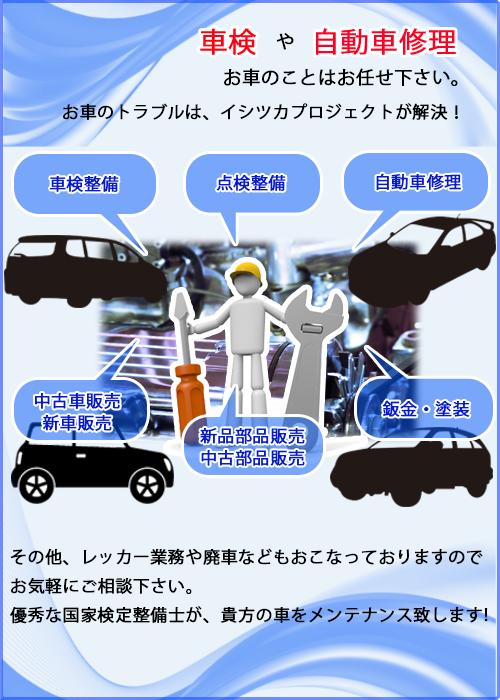 車検や自動車修理